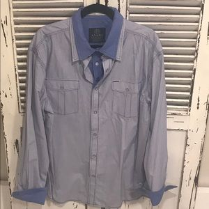 Men's ANAMA Button down flip cuff dress shirt